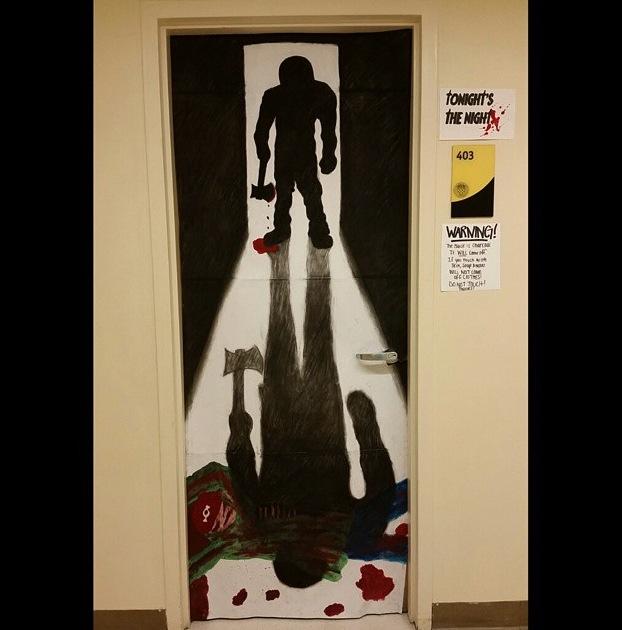 My next-door neighboru0027s Marisa Montefusco and Abby Kolleru0027s award winning door. & How to WIN at Door Decorating Contests u2013 The College of Saint Rose