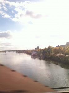 The train ride home! Super scenic.
