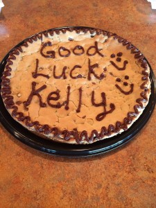 Cookie Cake from one of my going away parties. Photo Courtesy of Kelly Hoehn