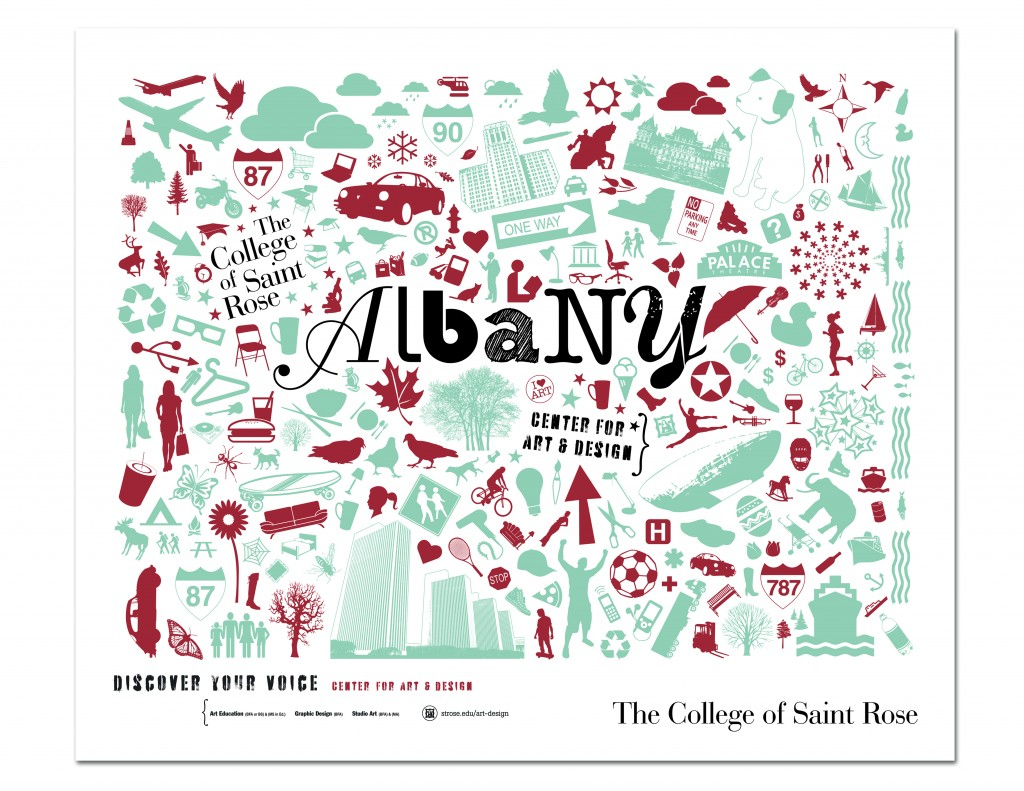 center for art and design_albany_poster