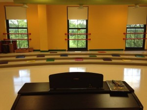 The view of one of my classrooms from my piano! Being a music teacher sure is a ton of fun! Photo taken by Genevieve Diller.