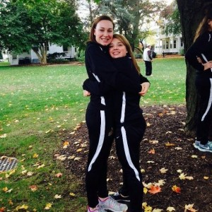 Sam Hall and her teammate Steph Noble