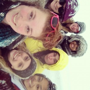 My friends and I sledding during a snow day last year.