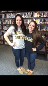 Nicolette (right) and her friend Lizzie Tripoli (left)