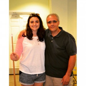 Renee Vaiano and her father