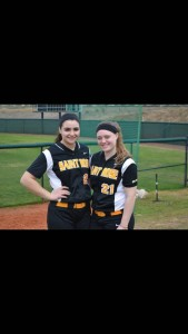 Renee (left) and fellow teammate Carly Wood (right)