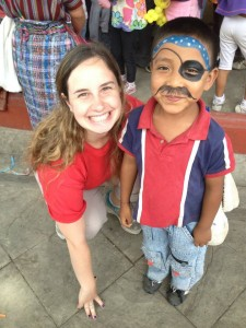 Aideen volunteering at La Escuela de Esperanza in Jocotenango, Guatemala.