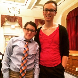 Costume Day during RA training this past year! RAs Brittany and Alex swapped attire for the day!