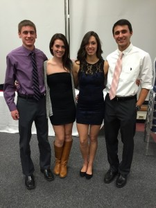 Ben (far left) and fellow teammates Michelle Lujan (second to your left), Amber Goodspeed (second to your right) and Jesse Petrucci (far right)