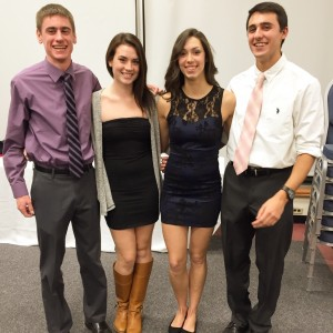 Jesse (far right), and teammates Amber (right center), Michelle (left center), and Ben (far left)