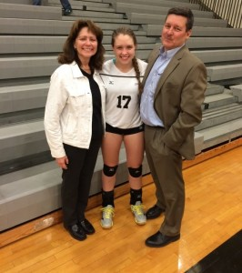 Erica (17) with her parents Ben and Lynnette Ziskin