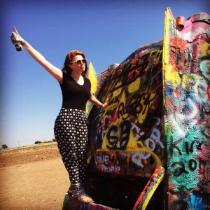 Cadillac Ranch- The cars were awesome, my duck face not so much.
