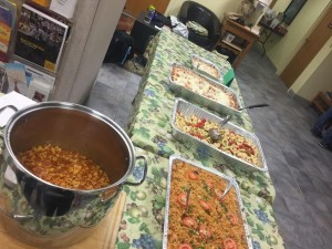 Some of the delicious food we shared at Supper in the Sukkah!