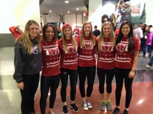 Morgan with her friends (from left to right) Kristen Carr, Jourdan Thompson, Morgan Burchhardt, Sydney Oshaughnessy, Nicole Shively, and Amanda Vasquez