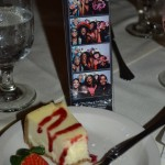 The awesome cheesecake dessert and our Picture Frame Party Favors