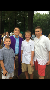 Brothers Patrick, Chris, Joe, and Drew Vesic (From left to right)