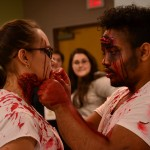 Zombies getting ready for Zombie Quarantine Haunted House(2)