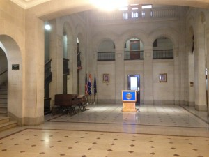 The Rotunda, located inside City Hall, where the Mayor will often give speeches.