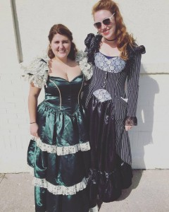 No new friends? More like all of the new friends, like Haley! This was us when we were in a Victorian parade.
