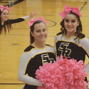 Danielle Dumas (right) and her fellow teammate Kristen Cabana (left)