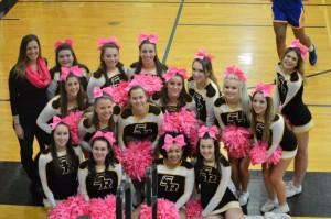 The 2015-16 Saint Rose Cheerleading team