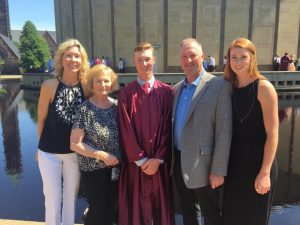 Maryellen with her parents, grandmother, and brother