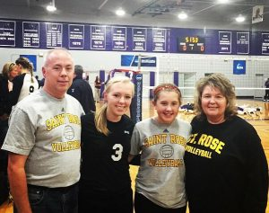 Sammi (#3) with her sister (Katie) and parents (Will and Lisa)