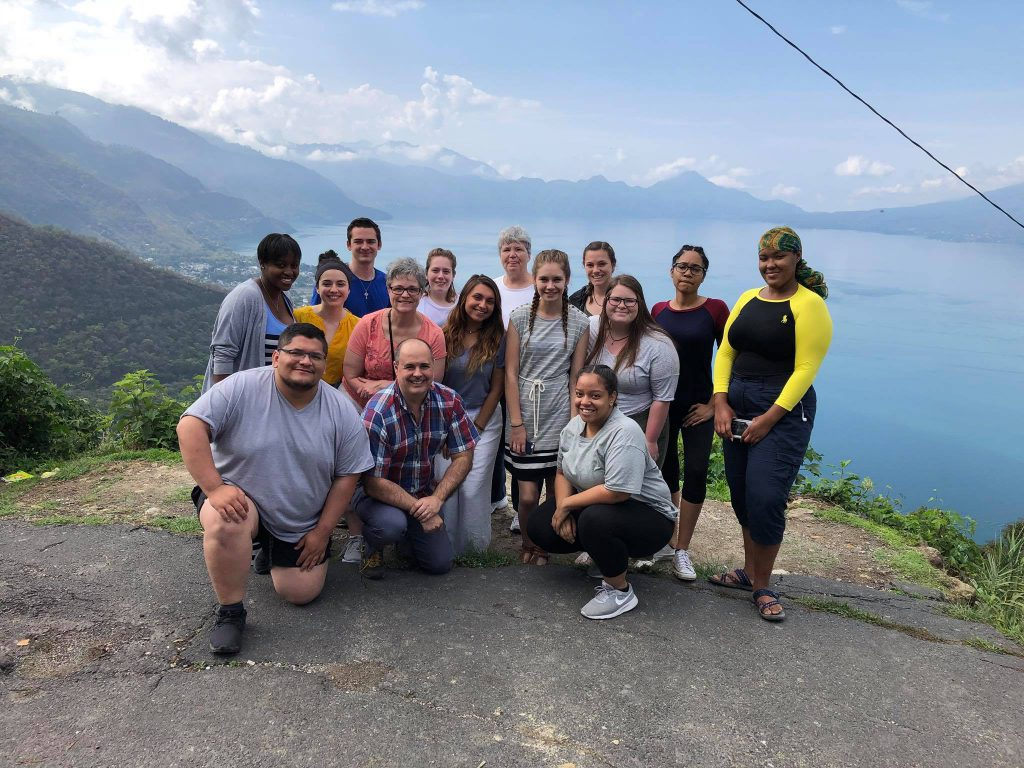 Volunteers at Lake Atitlan