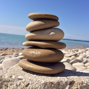tower of rocks to illustrate balance