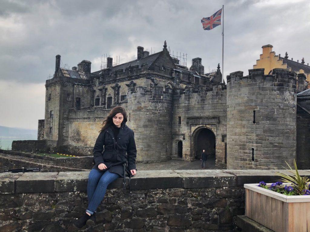 Juliann at Stirling Castle in Stirling, Scotland