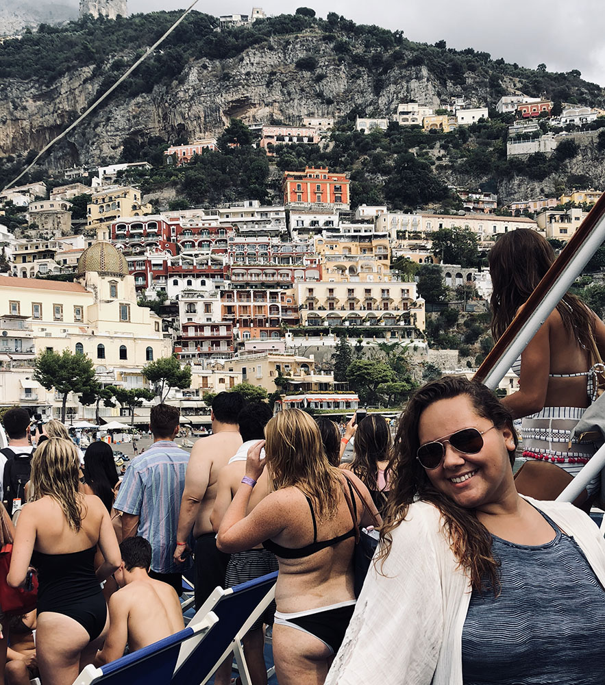 Kiara Alicea at the Amalfi Coast, Italy
