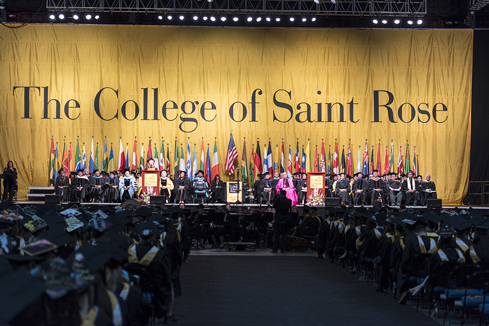 Saint Rose Commencement Ceremony in the Times Union Center