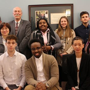 Ruggiero Scholars with the dean of business