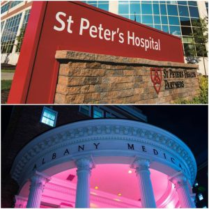 signs of st. peter's hospital and albany medical center hospital