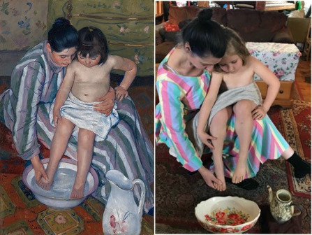lookalike of The Child's Bath by Mary Cassatt