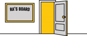 illustration of an RA dorm room