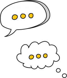 illustration of talk bubbles